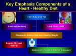 key emphasis components of a heart healthy diet