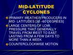 mid latitude cyclones