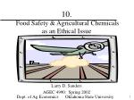 10 food safety agricultural chemicals as an ethical issue