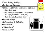 food safety policy background issues