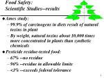 food safety scientific studies results