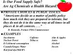 is our food supply safe are ag chemicals a health hazard