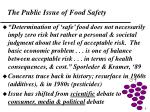 the public issue of food safety