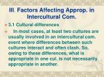 iii factors affecting approp in intercultural com