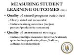 measuring student learning outcomes cs3 3 1