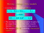 moving average ma models