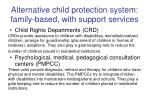 alternative child protection system family based with support services