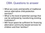 cba questions to answer