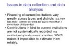issues in data collection and data analysis