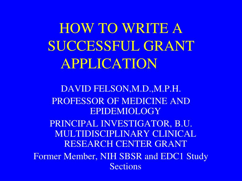 how to write a successful grant application l.