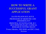 how to write a successful grant application