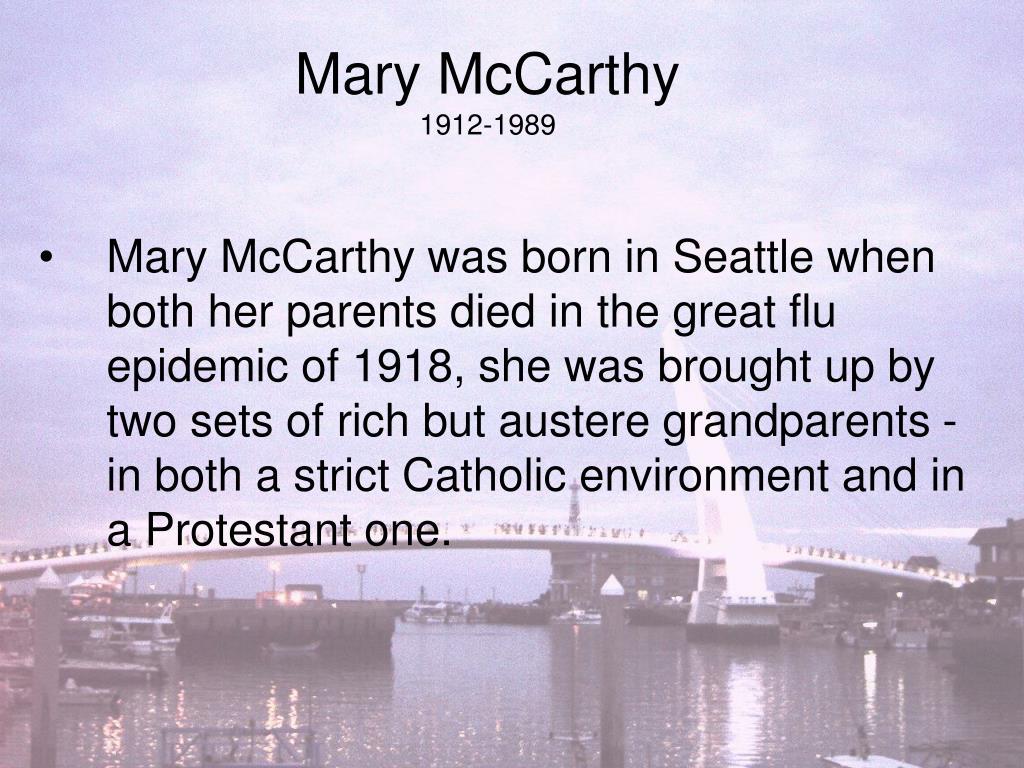 mary mccarthy 1912 1989 l.