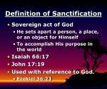 definition of sanctification