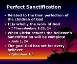 perfect sanctification