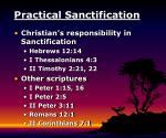 practical sanctification
