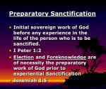 preparatory sanctification