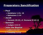 preparatory sanctification5