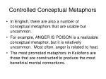 controlled conceptual metaphors56