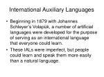 international auxiliary languages