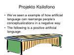 projekto ksilofono