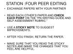 station four peer editing