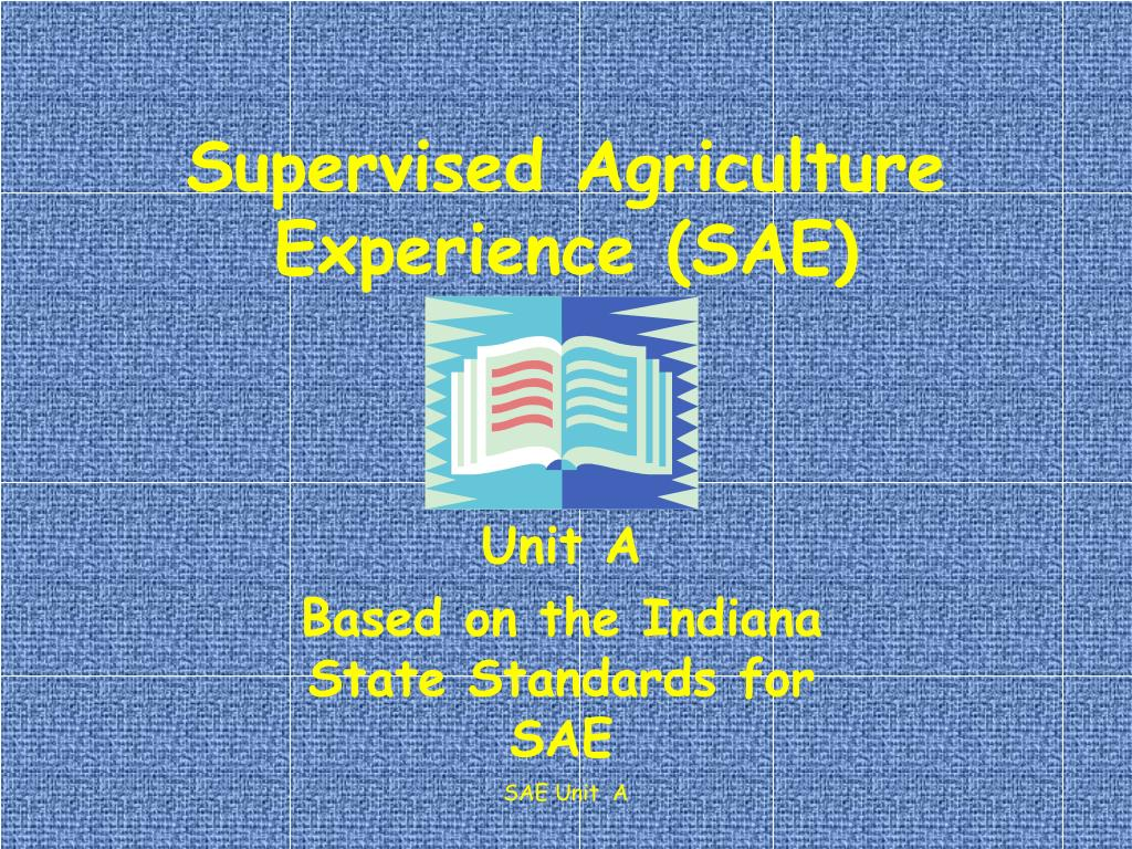 supervised agriculture experience sae l.