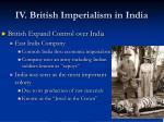 iv british imperialism in india