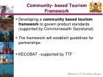 community based tourism framework