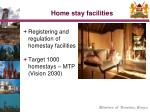 home stay facilities