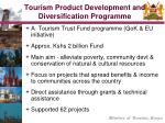 tourism product development and diversification programme