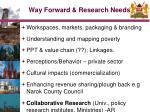 way forward research needs17