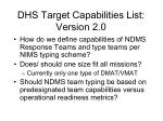 dhs target capabilities list version 2 0