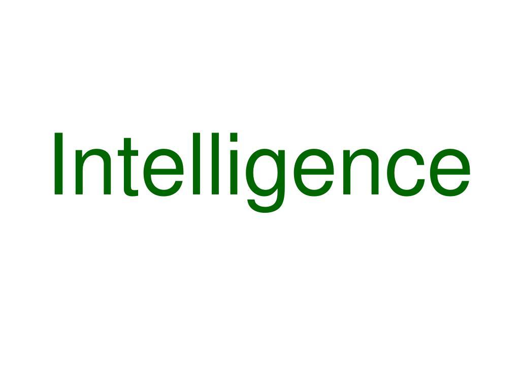 intelligence l.