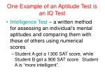 one example of an aptitude test is an iq test