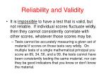 reliability and validity41