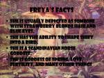 freya s facts