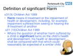 definition of significant harm