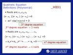 quadratic equation definitions polynomial6