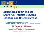 aggregate supply and the short run tradeoff between inflation and unemployment