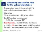 calculating the sacrifice ratio for the volcker disinflation32