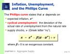 inflation unemployment and the phillips curve