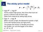 the sticky price model14