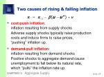 two causes of rising falling inflation