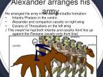 alexander arranges his army