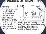 persians arrange their army
