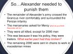 so alexander needed to punish them