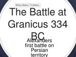 the battle at granicus 334 bc