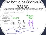 the battle at granicus 334bc