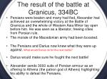 the result of the battle at granicus 334bc