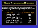 bilirubin concentrations and kernicterus